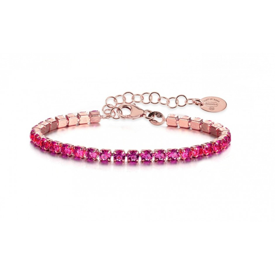 Bracciale Tennis Cherry Oro Rosa