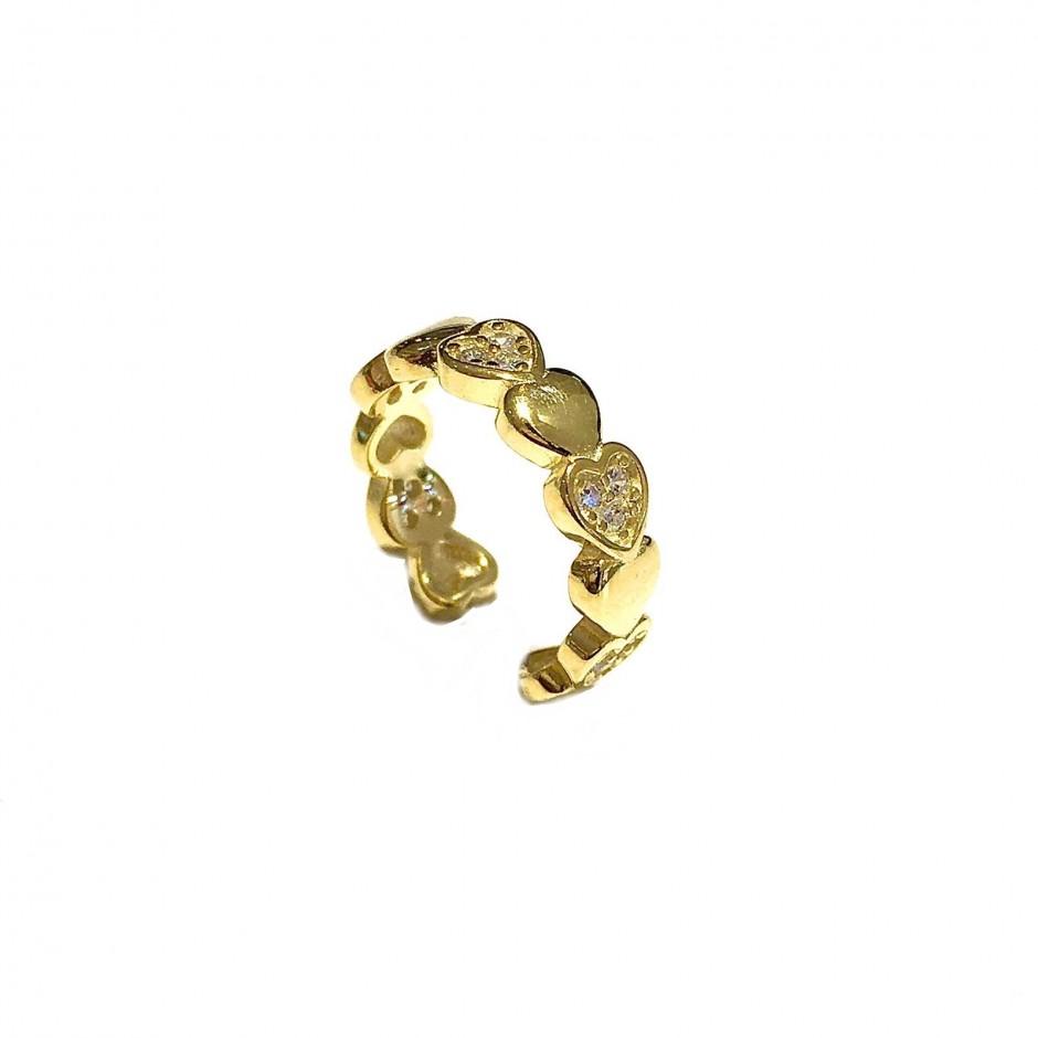 Mono Orecchini Earcuff Cuoricini Gold