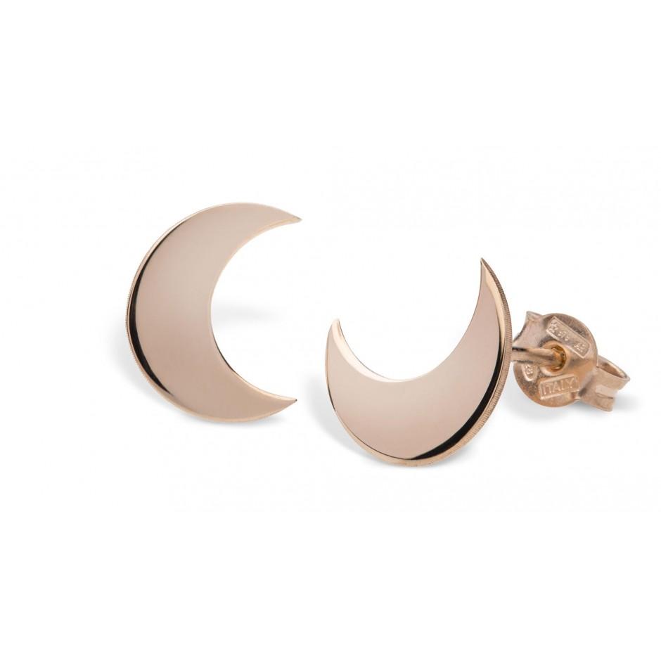 Orecchini mezza luna in argento placcato oro rosa